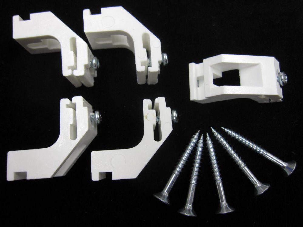 5 Harrison Drape Curtain Track Brackets White Silver Drape